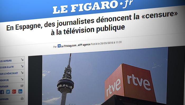 Le Figaro resalta que un comité se enfrenta al gobierno de Rajoy y denuncia los bastidores de RTVE