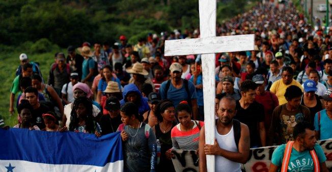La caravana de hondureños que camina a través de México para llegar a Estados Unidos