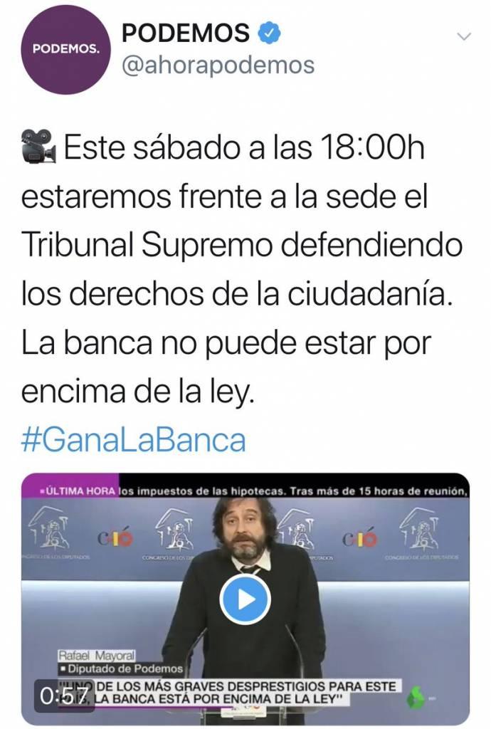 Sería más coherente que antes de llamar a la manifa, los Marqueses de Galapagar rehicieran la escritura de hipoteca del casoplón por el valor real de mercado