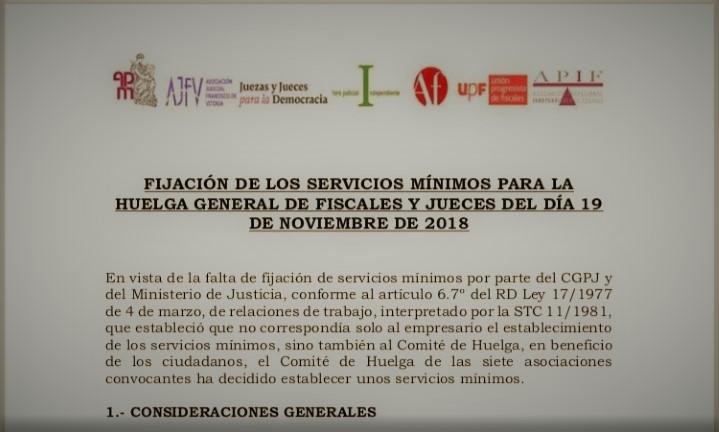 La convocatoria de huelga del 19 de Noviembre de 2018 es una huelga general.