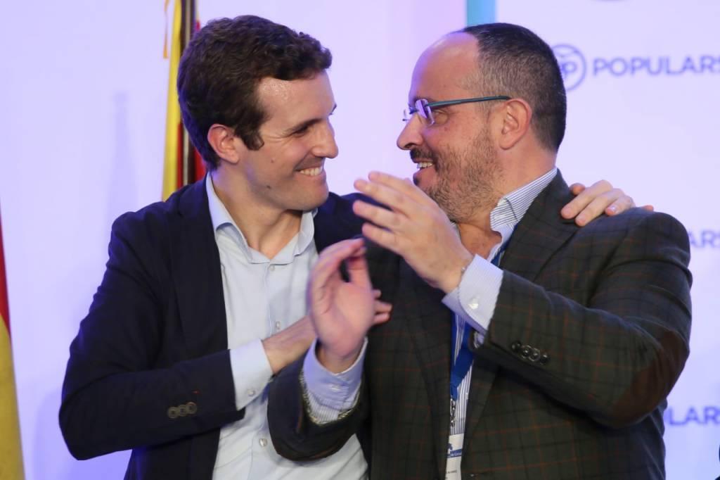 Alejandro Fernández y Pablo Casado