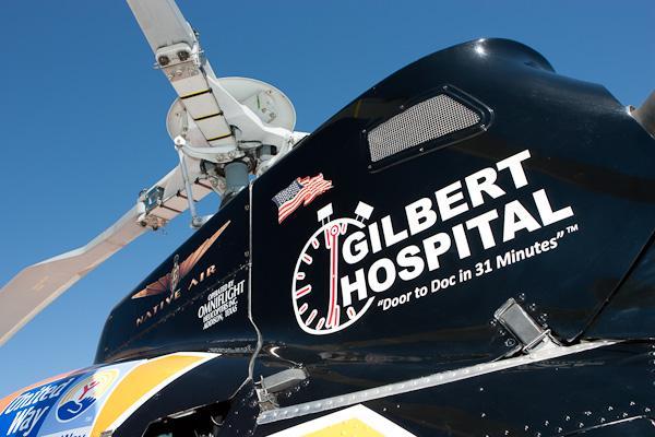 Helicóptero del Gilbert Hospital