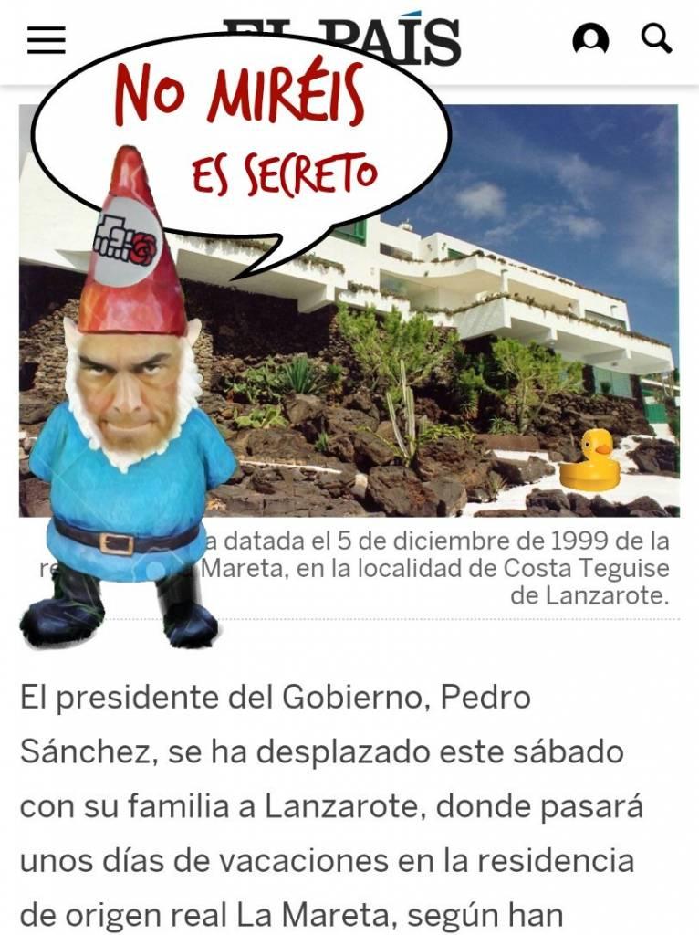 Las chupivacaciones de los Sánchez por los palacios de Patrimonio Nacional. Por Linda Galmor