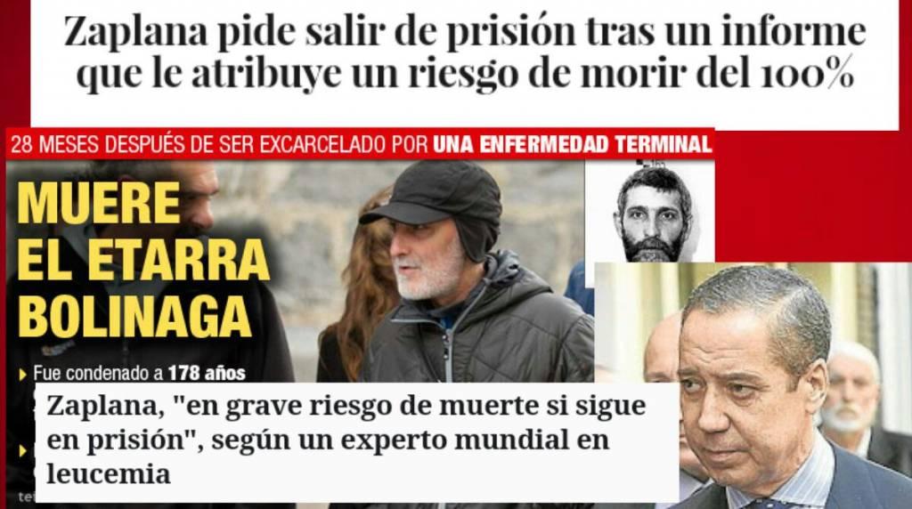 A Zaplana la Podemizada Zurdería le ha condenado a muerte, la Prisión Preventiva EJECUTA la sentencia, mientras la mala salud y la enfermedad hacen el resto.