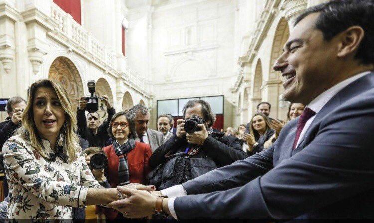 Democracia. Susana Díz y Juan Manuel Moreno Bonilla