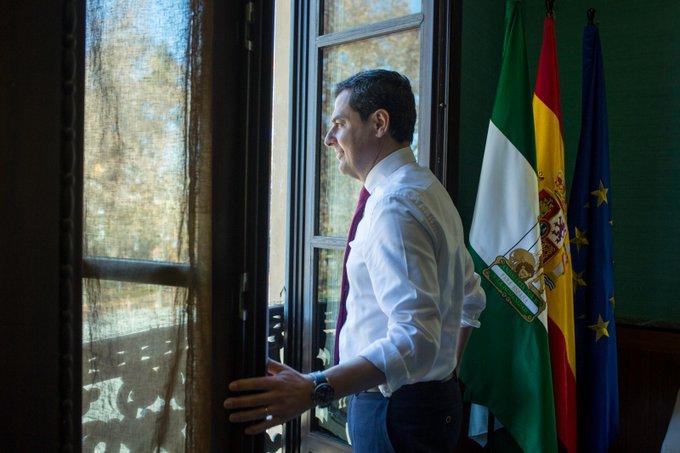 El Presidente de la Junta de Andalucía Juan Manuel Moreno Bonilla