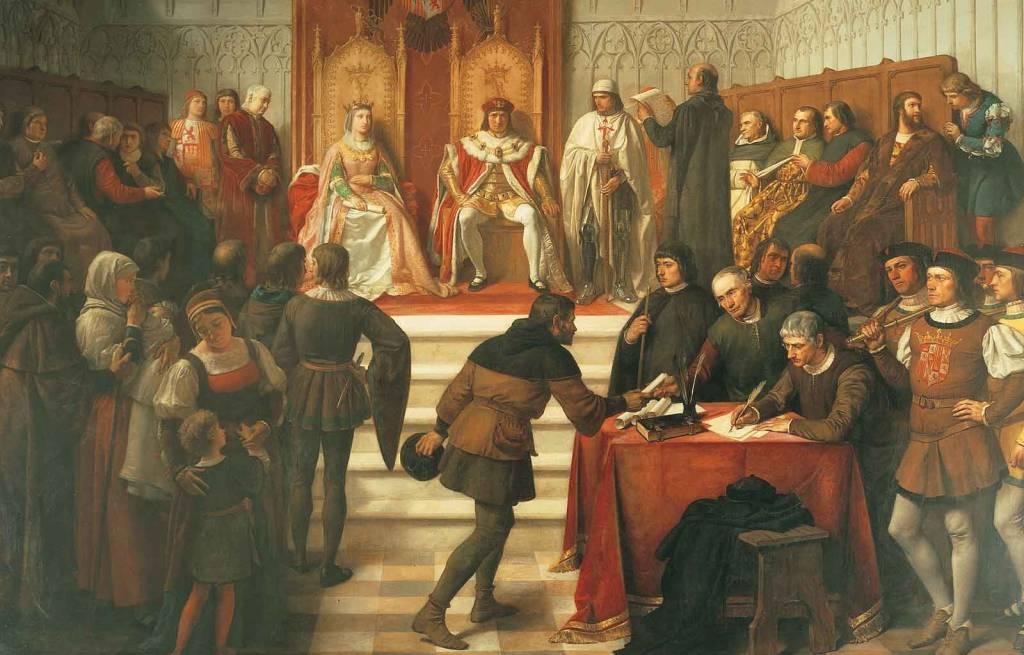 Los Reyes Católicos en el acto de administrar justicia
