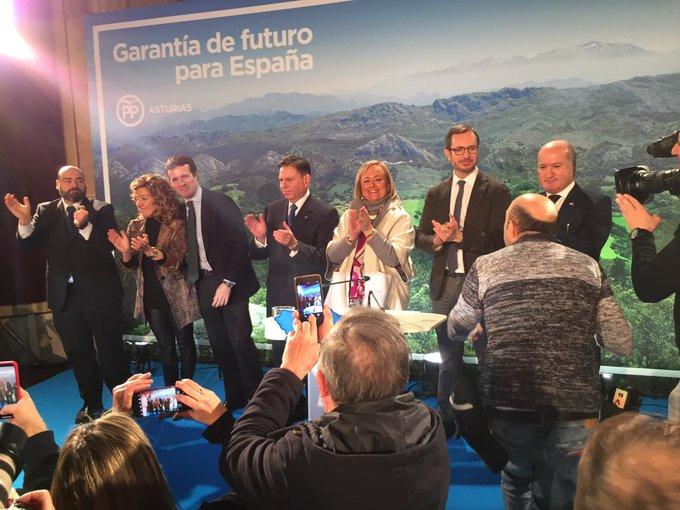 Presentación oficial de Teresa Mallada a la Presidencia del Principado