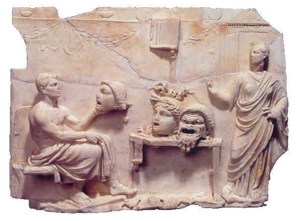Relieve de Menandro con una Musa