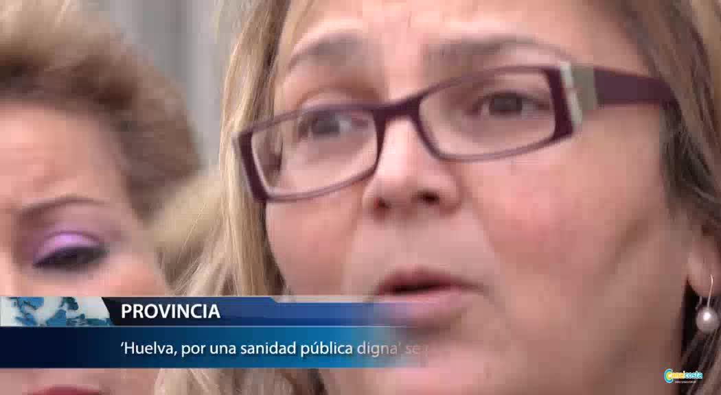 la portavoz de la plataforma 'Huelva, por una sanidad pública digna', Paloma Hergueta
