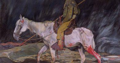 Ignacio Zuloaga en 1910 el paisaje después de la batalla.El óleo pertenece a The Hispanic Society of America de Nueva York