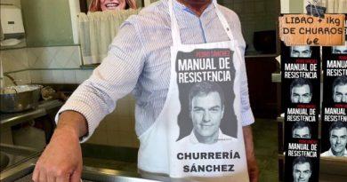 No sé si han dicho que los libros del casi ex presidente se vendían como churros, o los regalaban comprando un kilo de churros. Por Tano