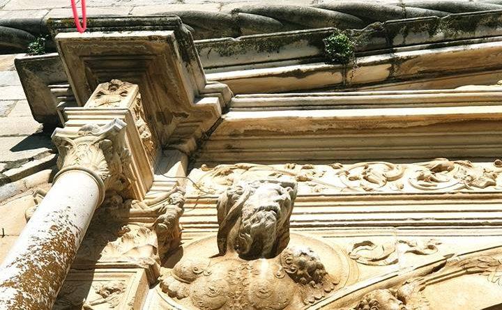 Detalle de la portada de la Iglesia de la Magdalena de Olivenza. Fotografía de Manuel Barragán Lancharro