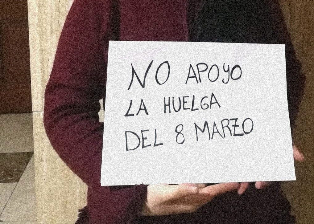 No apoyo la huelga del 8 de marzo