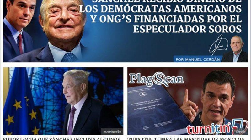 El dinero del especulador Soros y el programa electoral de Sánchez.