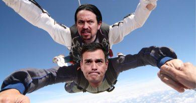 Los políticos volando como los compresas