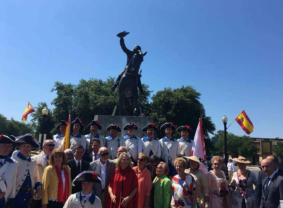 Homenaje a Bernardo de Galvez en Pensacola