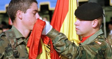 Jura de bandera del último reemplazo del Servicio Militar Obligatorio en el año 2001