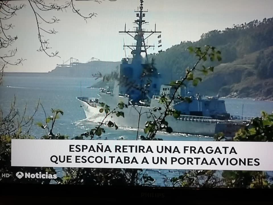 La fragata española se retira
