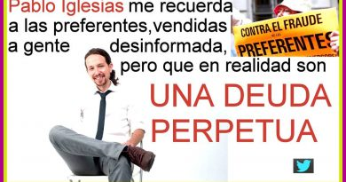 Pablo Iglesias el preferente es una deuda perpetua