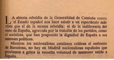 Parece que estas palabras son de hoy mismo pero no, fueron escritas hace ya algún tiempo por un tal  José Antonio Primo de Rivera