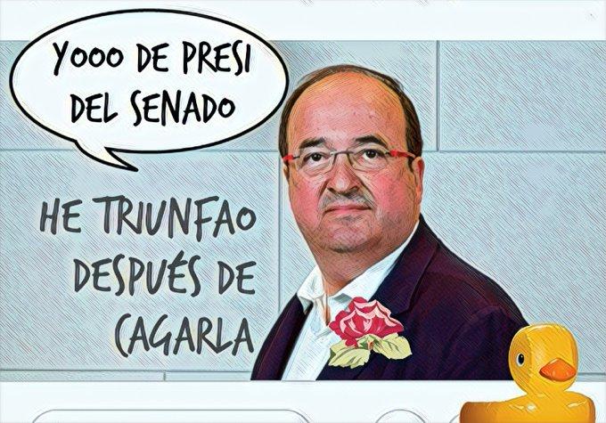 Sánchez nombra a un inútil de Presidente del Senado. El elemento ni estudió ni trabajó en su vida. Por Linda Galmor