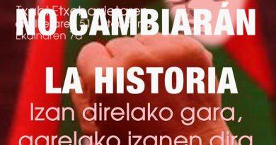 El homenaje a Txabi Etxebarrieta, el primer asesino de ETA que acabó con la vida del guardia civil Pardines, fue el inicio de cientos de crímenes.