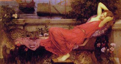 John William Waterhouse en su obra Ariadne como en tantas de las suyas expresó con sensualidad la espera de la princesa a su paladín.