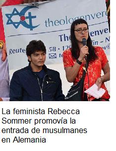 La activista alemana Rebecca Sommer fundó en 2012 una asociación para ayudar a los invasores islámicos