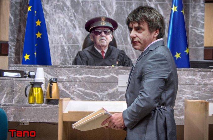 Mirando con los ojos de un independentista el tribunal de Derechos Humanos de strasburgo. Atentos ciudadanos que las palabras nos engañan y la realidad ya no es la realidad. Ilustración de Tano