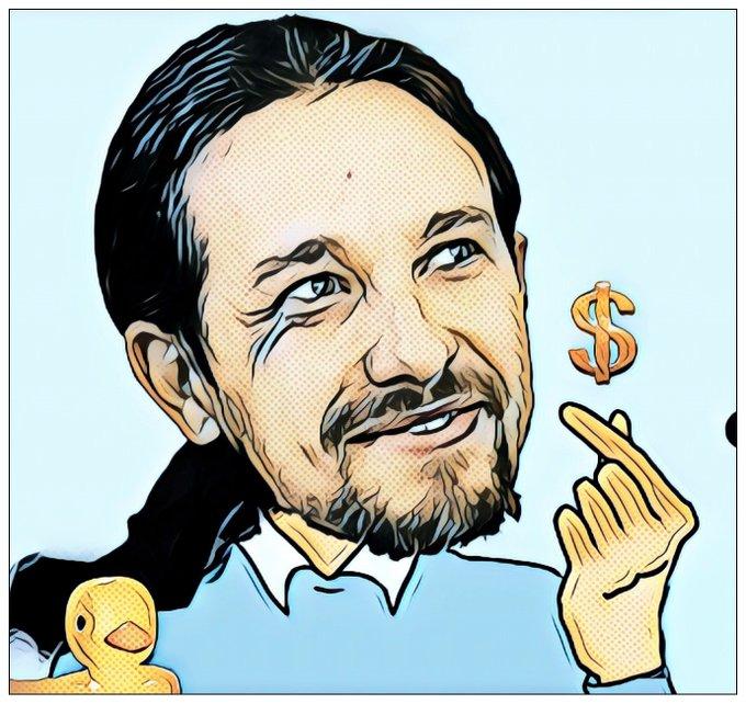 El Marqjués de Galapagar, socio preferente de Sánchez y la nueva nobleza. Ilustración de Linda Galmor