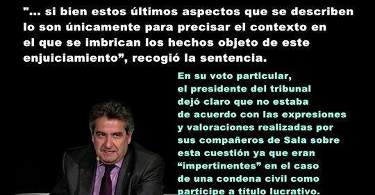 Carlos Herrera, la investidura y la frase del juez De Prada en la sentencia de la Gürtel, mejor imposible.