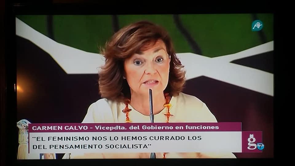 Carmen Calvo, un insulto a la inteligencia