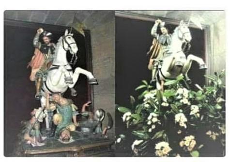 En la Catedral de Santiago convierten a Santiago Apostol en jardinero
