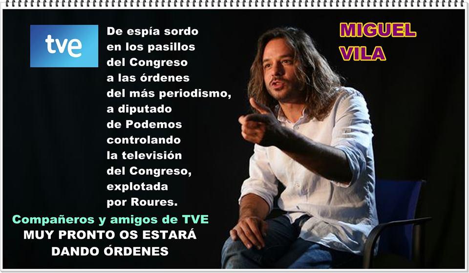 M iguel Vila, muy pronto queridos com pañertos de TVE os dará las