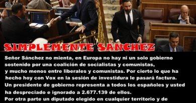 Sánchez miente e ignora a Abascal en las réplicas