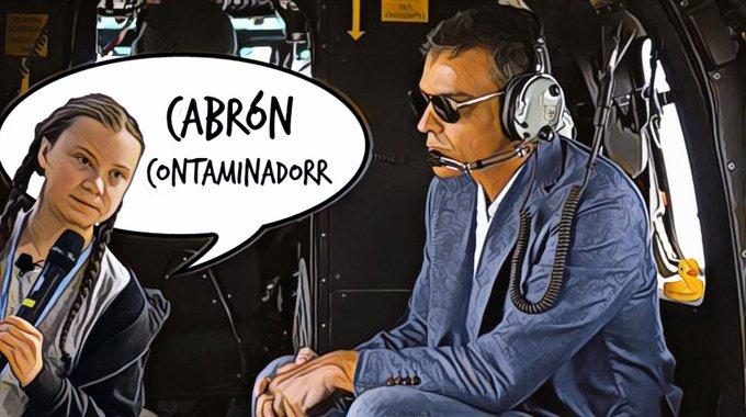 El Sánchez está muy preocupado por la huella ecológica de los demás. En la cena del G7 sólo hablará de los incendios en la Amazonía. Por Linda Galmor