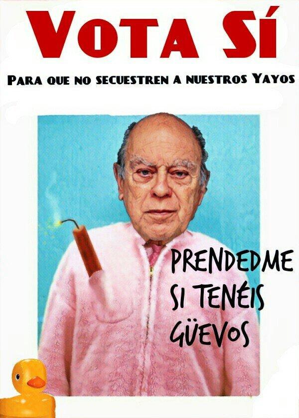 Pruebas de cartelería para el referéndum que se está negociando con Sánchez. Por Linda Galmor
