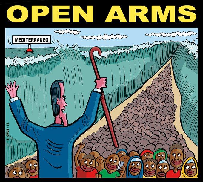 Sánchez rectifica 14 días después y acogerá a los inmigrantes del Open Arms. Por Santi Orue