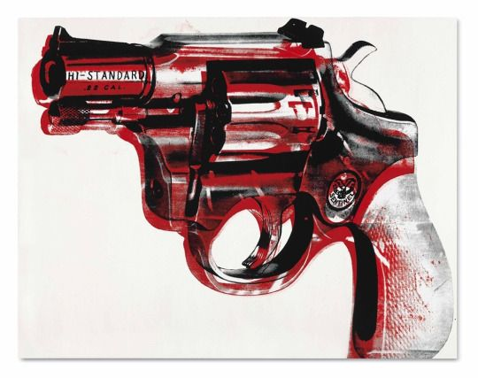 Andy Warhol, 'Pistola'. 1981. Acrílico y serigrafía