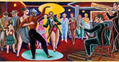 Detalle de la obra  'Estrellita va a New york' (1981), de Ceesepe