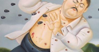 La muerte de Escobar de Fernandlo Botero