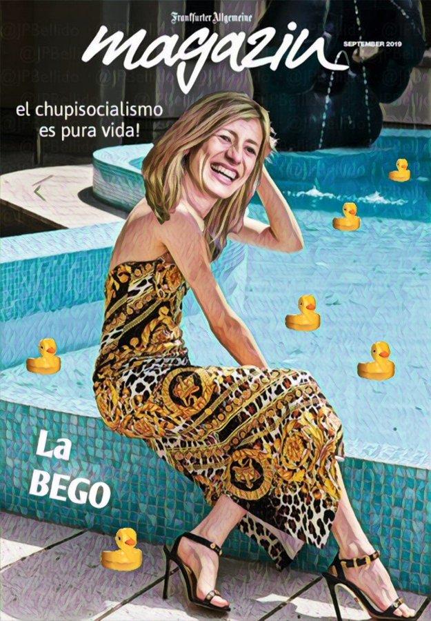 Nuestra First Lady, la Bego, desea un #FelizLunes a todos los contribuyentes y contribuyentas. Por Linda Galmor