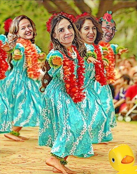 Las chicas del PSOE desean un Feliz Lunes a todos los contribuyentes y contribuyentas a su paradisíaco estado de bienestar. Por Linda Galmor