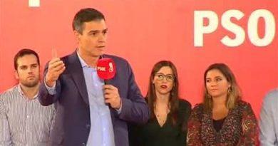 Pedro Sánchez habla de corrupción en Andalucía