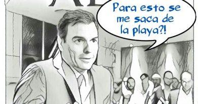 Sánchez dimite ya y vete a contar nubes junto a Zapatero. Portada de Feliz Miércoles. Por Linda Galmor