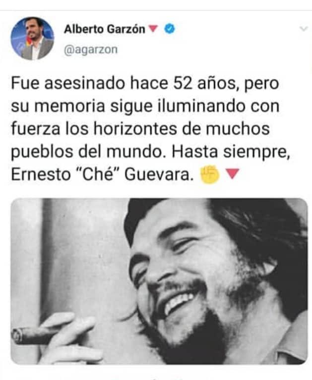 El asesino, homófobo y pistolero argentino Che Guevara visto por el comunista Garzón