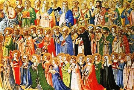 San Gregorio III consagró una capilla en la Basílica de San Pedro en honor de todos los Santos, y fijó su aniversario para el 1 de noviembr