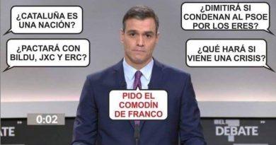 Yo P. Sánchez, pienso que he ganado con gran solvencia el debate a cinco. Ilustración de Racatole
