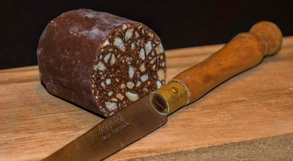 Morcilla de chocolate para Reyes Magos. Imagen y realización de Rodolfo Arévalo